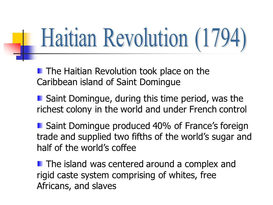 haitian revolution effects on haiti and the wider caribbean Civil war after the revolution haiti's first post-revolutionary leader domestic effects of the revolution effects & impact of the haitian revolution related.
