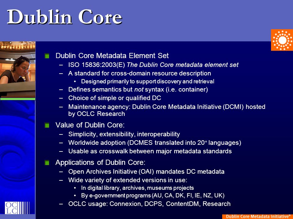 Dublin Core DCMES also issued as NISO Z39.85