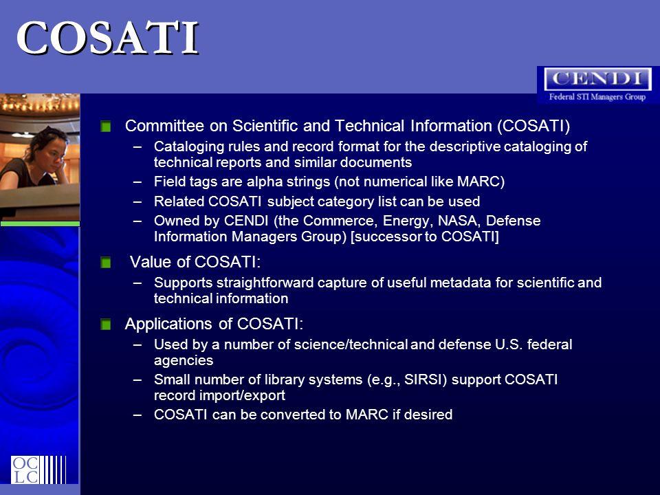 COSATI Committee on Scientific and Technical Information (COSATI)