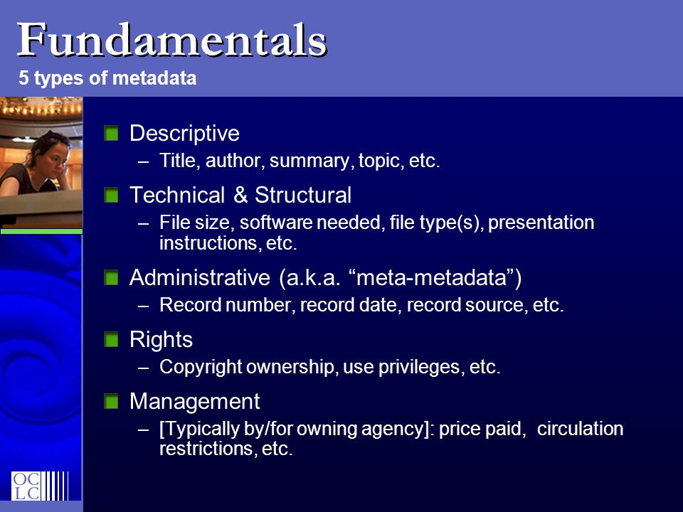 Fundamentals Descriptive Technical & Structural