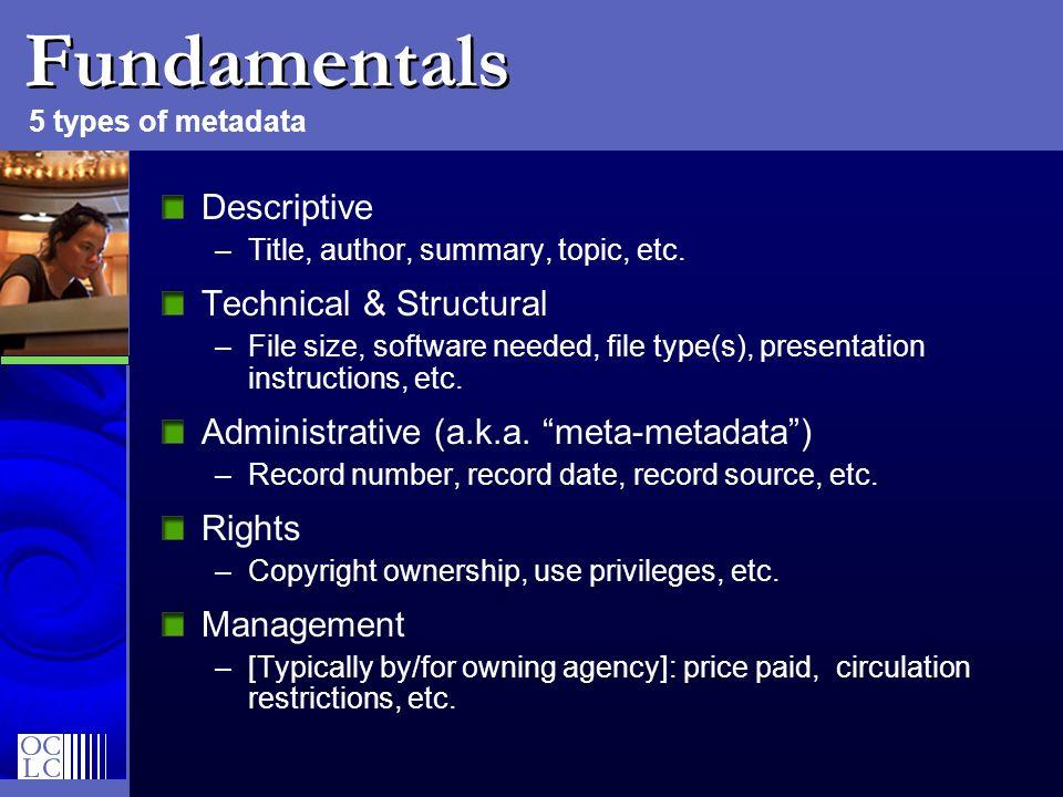Fundamentals Descriptive Technical & Structural
