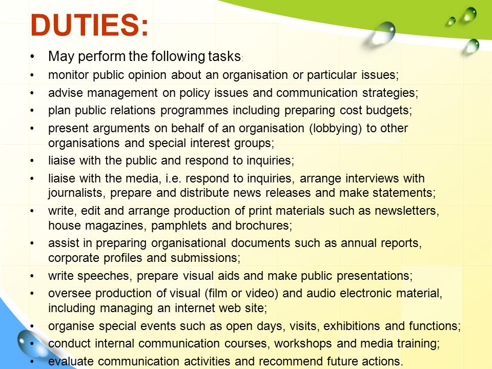 qualities of public relation officer pdf