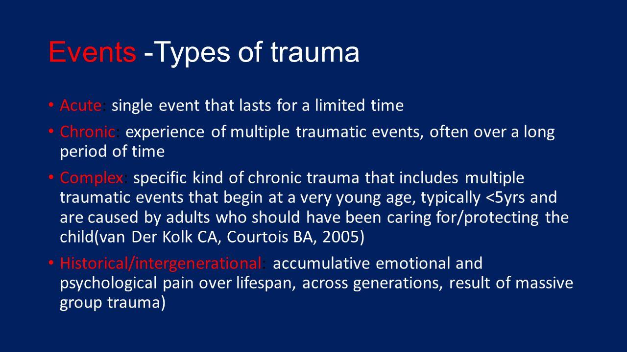 Chronic trauma and older adults