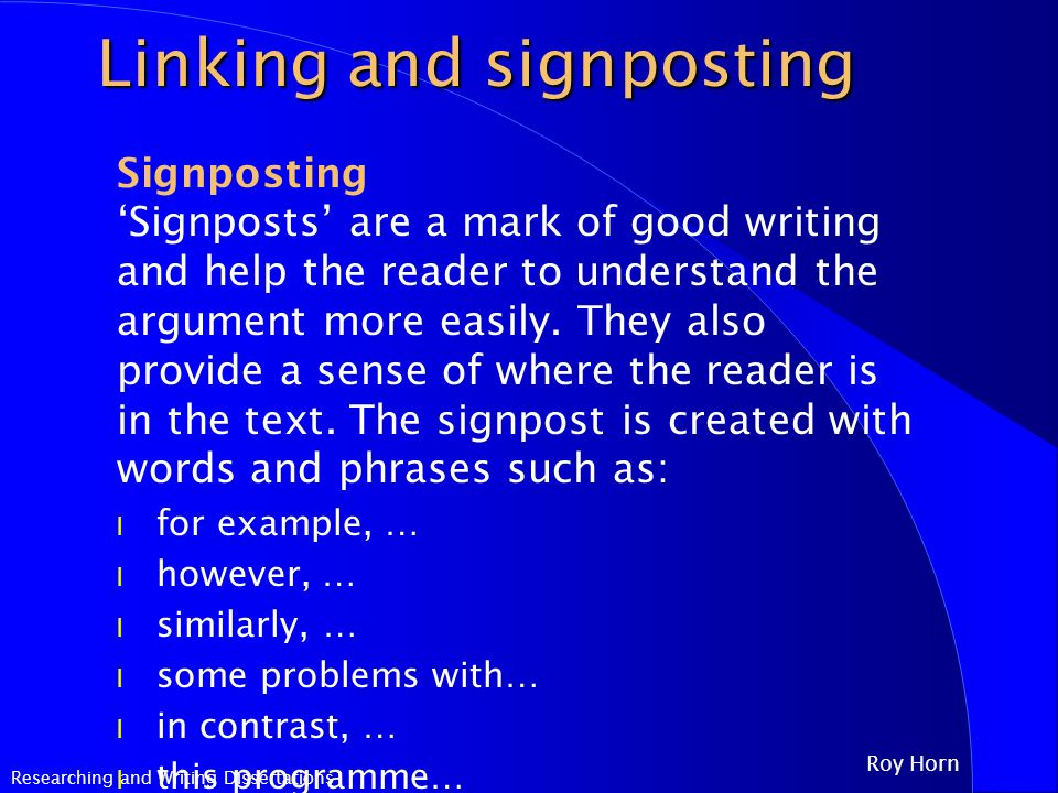 Signposting in essays