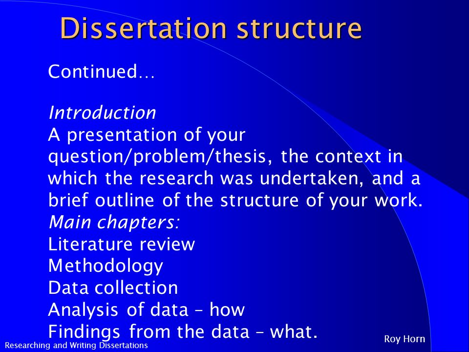writing the dissertation introduction Thesis introduction is the first part of a thesis paper thesis introduction allows the readers to get the general idea of what your thesis is about thesis introduction acquaints the.