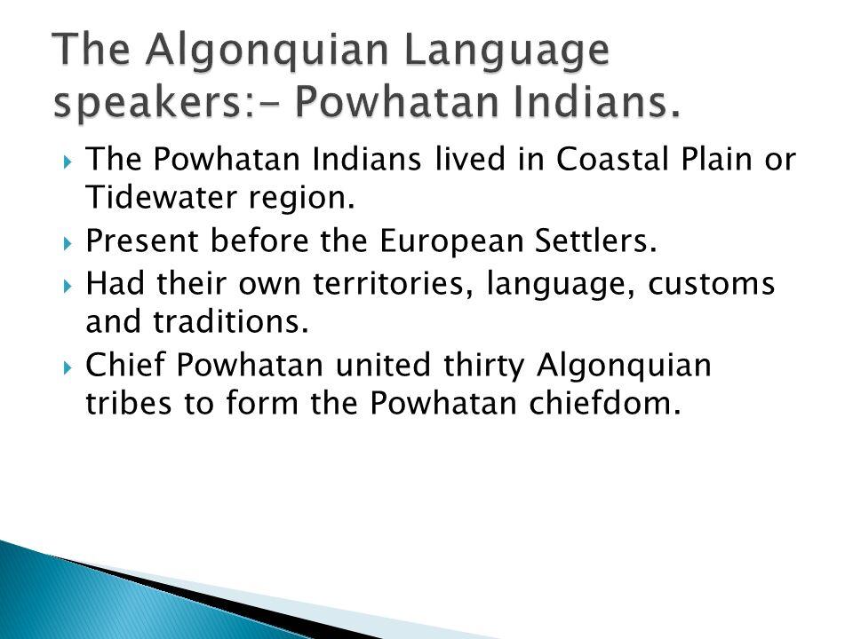 Powhatan Indian Symbols