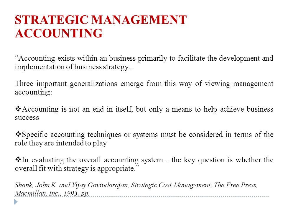 Strategic Managet Accounting - ppt video online download