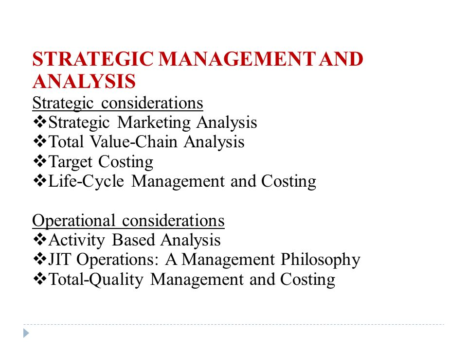 Articles on Strategic Management