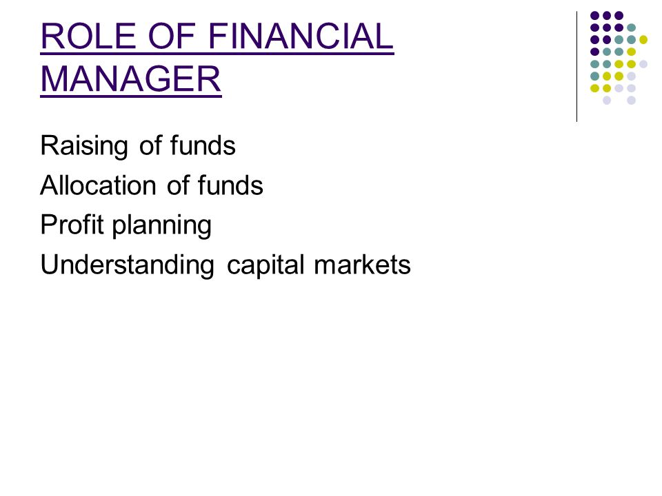 The Important Roles Within a Financial Management System