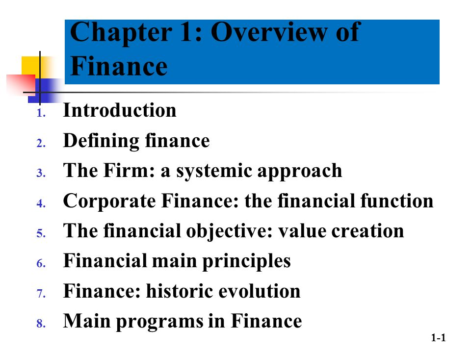 chapter 1 an overview of financial Nasa financial management requirements volume 6, chapter 1 september 2004 chapter 1 general overview 0101 general 010101 purpose this volume sets forth.