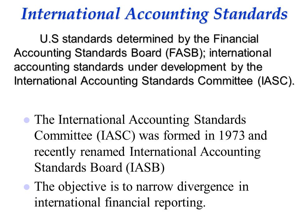 international accounting standard ias essay International financial reporting standards, usually called ifrs, are standards issued by the ifrs foundation and the international accounting standards board (iasb) to provide a common global language for business affairs so that company accounts are understandable and comparable across international boundaries.