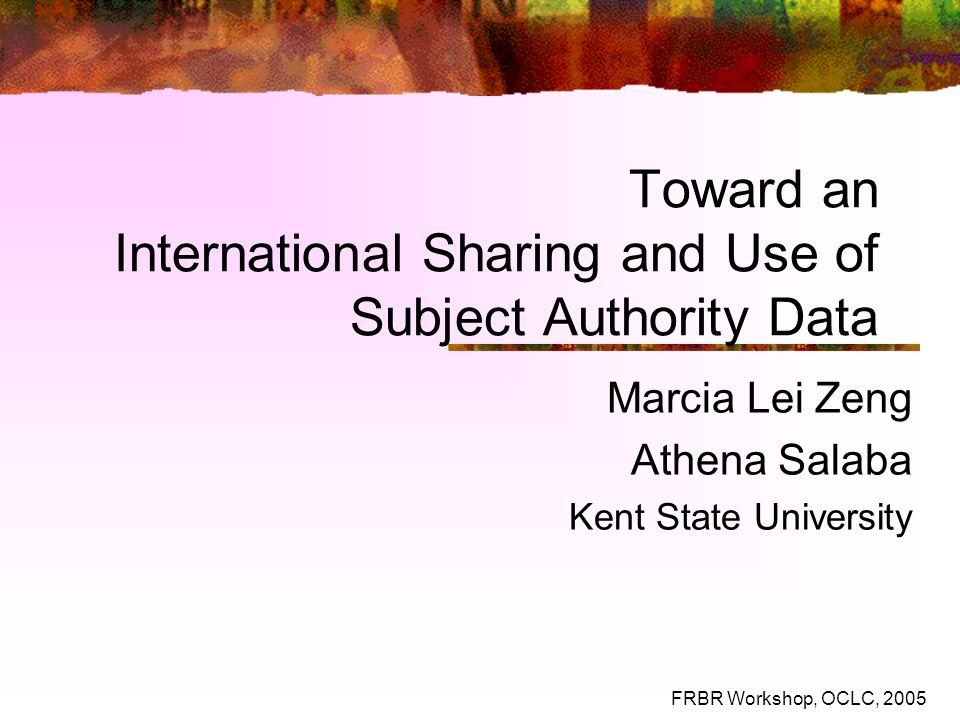 Toward an International Sharing and Use of Subject Authority Data