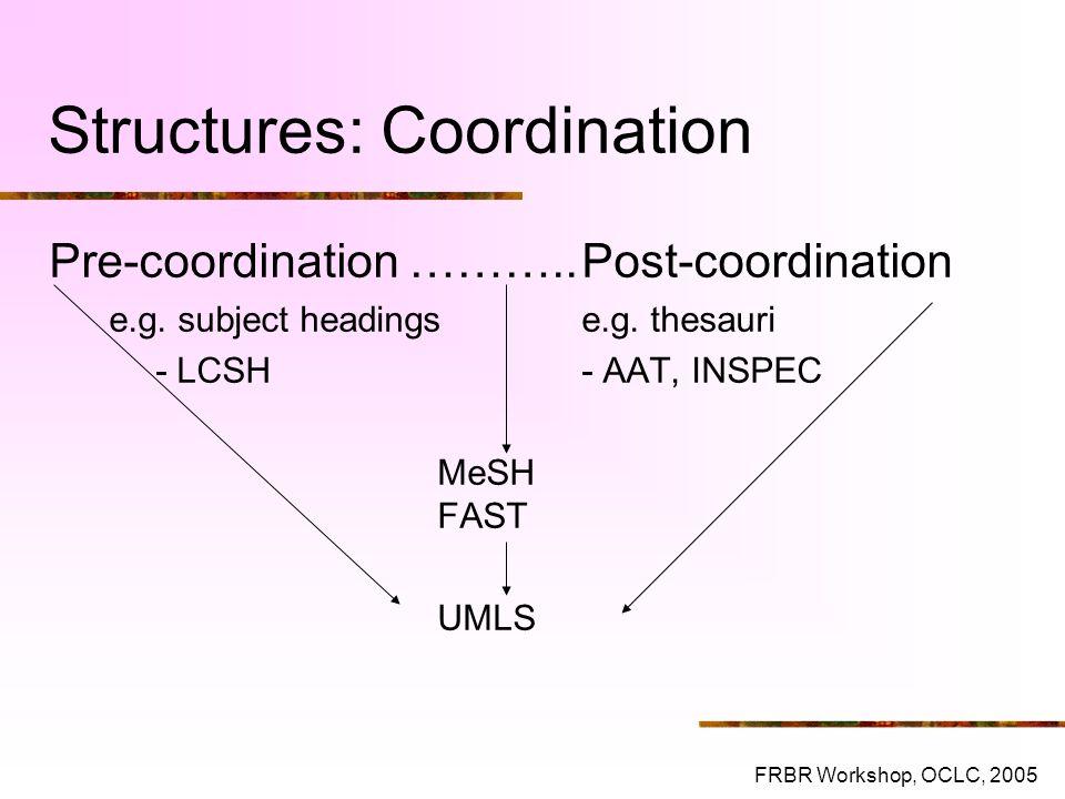 Structures: Coordination