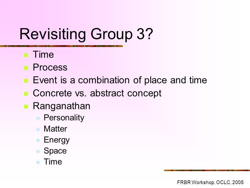 Revisiting Group 3 Time Process