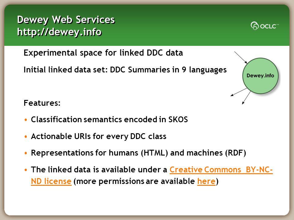Dewey Web Services http://dewey.info