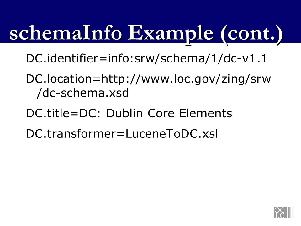schemaInfo Example (cont.)