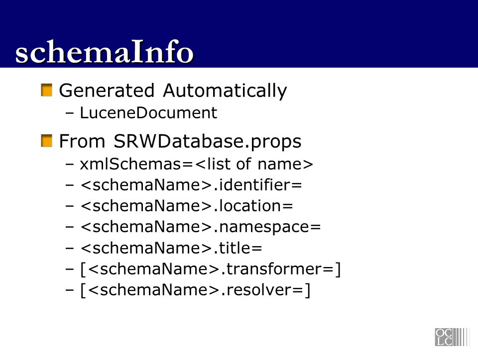 schemaInfo Generated Automatically From SRWDatabase.props