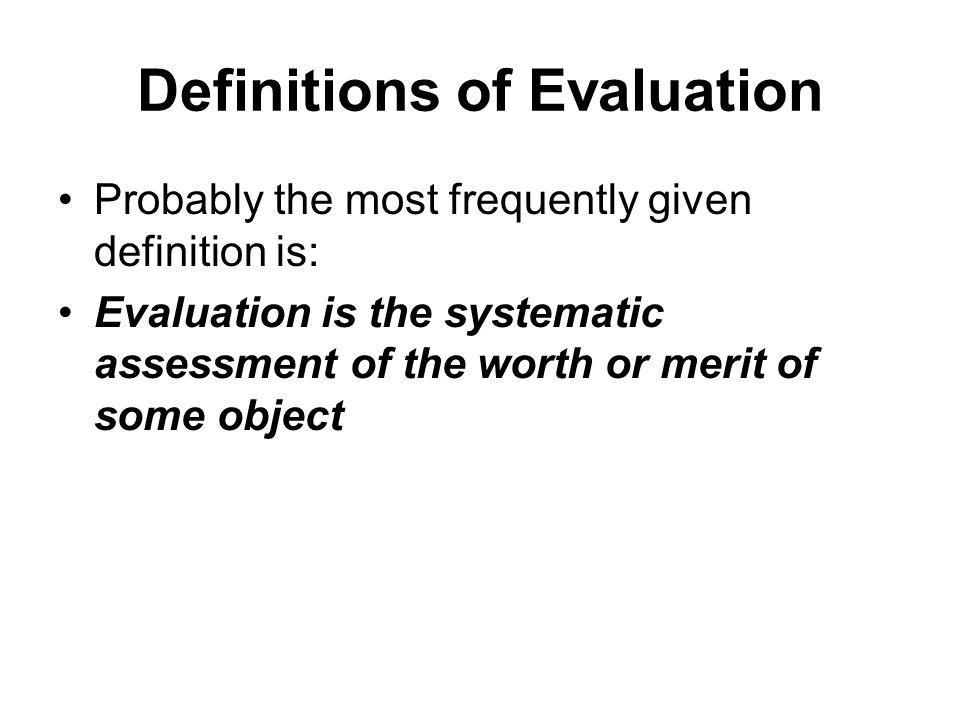 evaluation essay definition