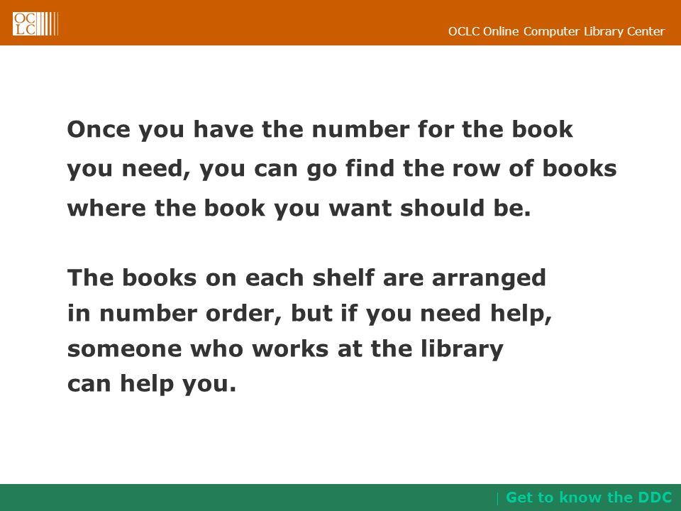 Once you have the number for the book