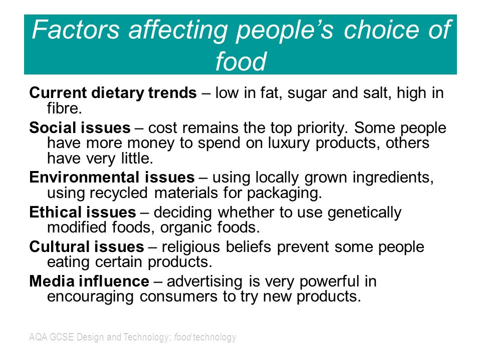 """economic factors affecting food choice essay Environment where you live, work or go to school can have a big impact on food choice people who live closer to grocery and health-food stores tend to eat more healthfully, according to a study published in """"physiology & behavior"""" in 2005."""