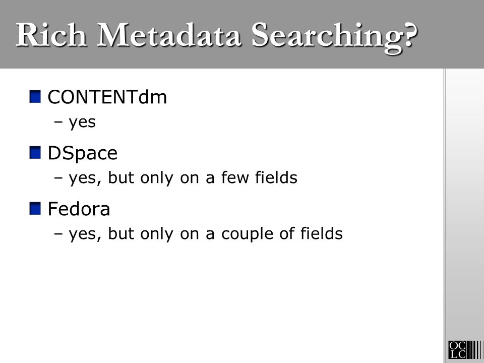 Rich Metadata Searching