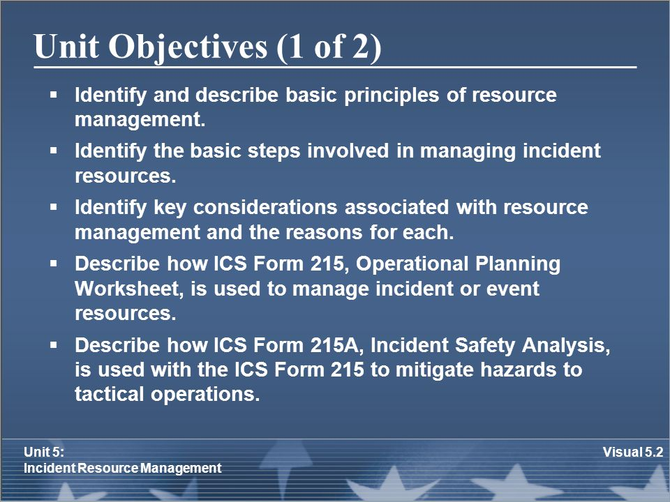 Unit 5: Incident Resource Management - ppt video online download