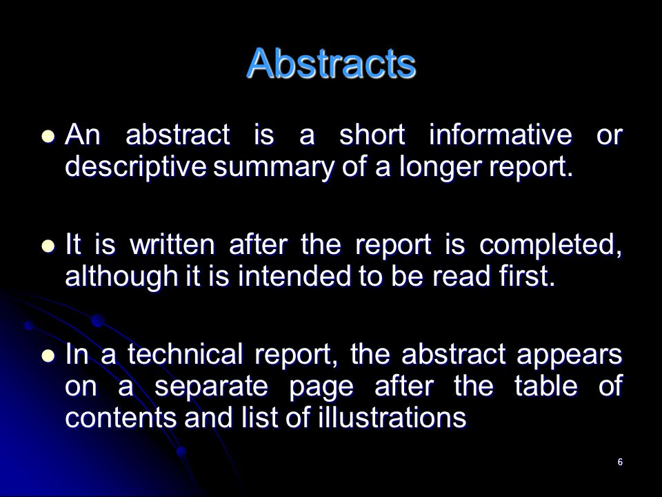 informative abstract example