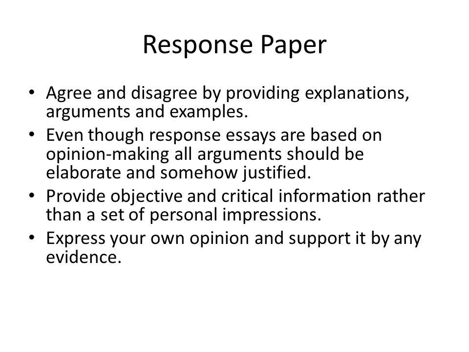 response paper 2