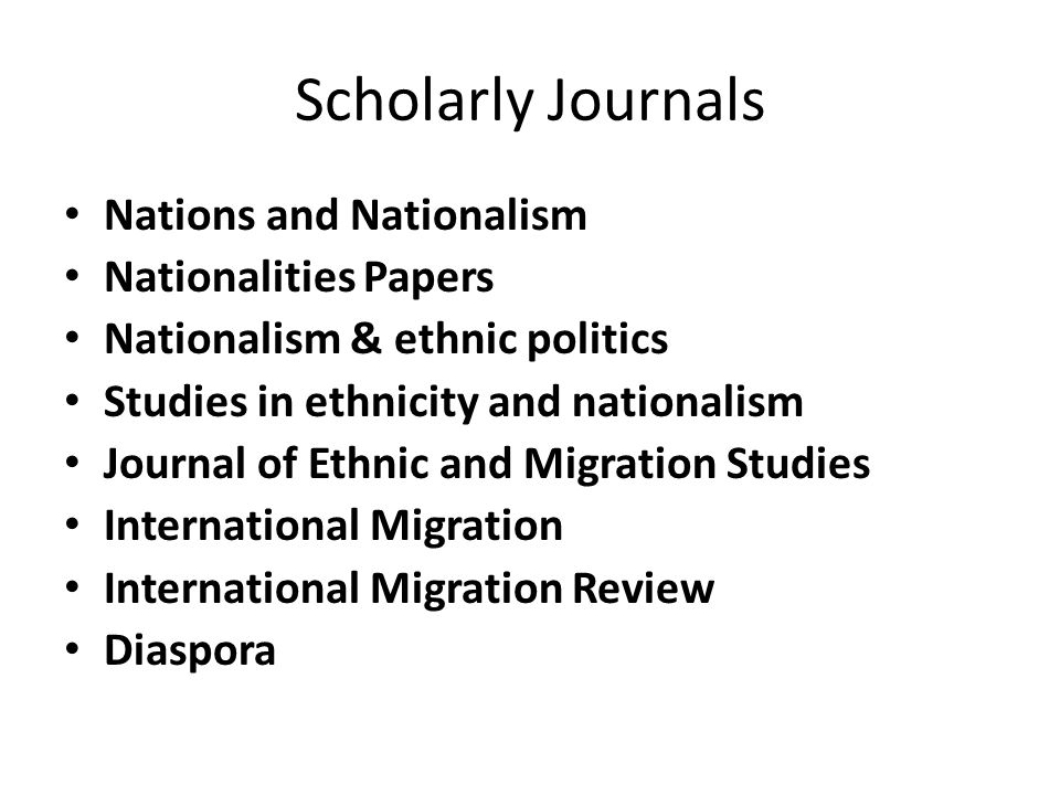 scholarly journals for research papers A research paper is a full-length, technically original research document that reports results of major and archival value to the specific community of engineers that comprise the journal audience research papers undergo full peer review.