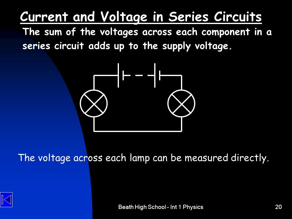how to find voltage in a series circuit