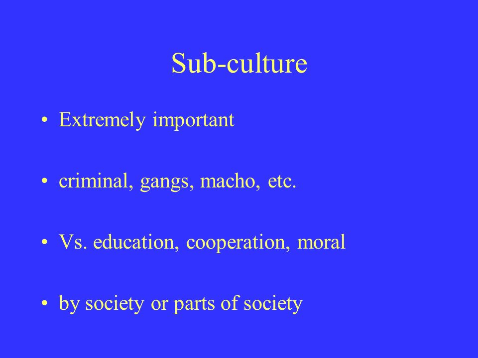 culture and crime in society Discusses issue of violence in society with special really violent movies were only seen by the fringe of mass culture crime and violence in society.