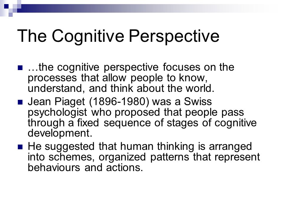 Cognitive processes: What are they? Can they improve?
