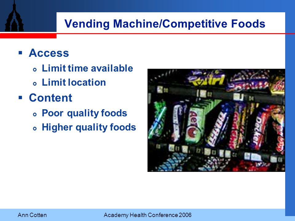 Vending Machine/Competitive Foods