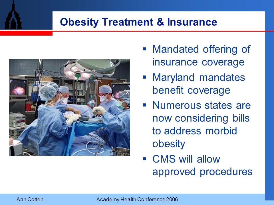 Obesity Treatment & Insurance