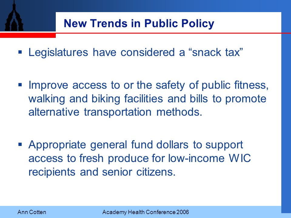 New Trends in Public Policy