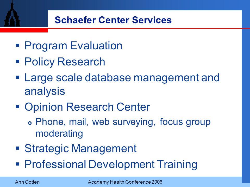 Schaefer Center Services