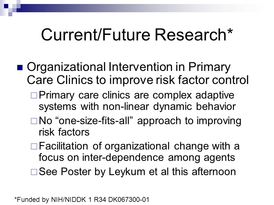 Current/Future Research*