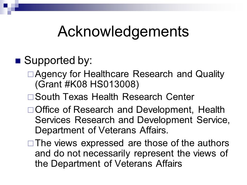 Acknowledgements Supported by: