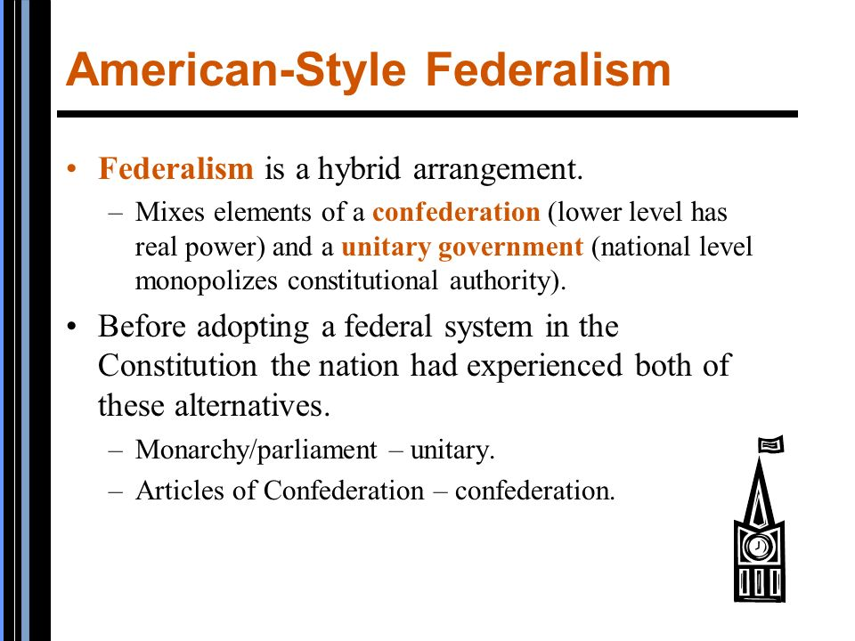 what is american federalism American federalism - federalism, by definition, is the division of government authority between at least two levels of government in the.