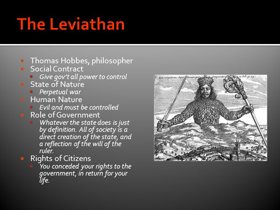 an analysis the nature of government in the leviathan by thomas hobbes To imagine a state of nature, we imagine away government, law, police, and see what we are left with the idea has a long of nature as a state of war thomas hobbes argued that to understand political society, we first need to understand about the state of nature can be found in leviathan, esp ch 10-14.