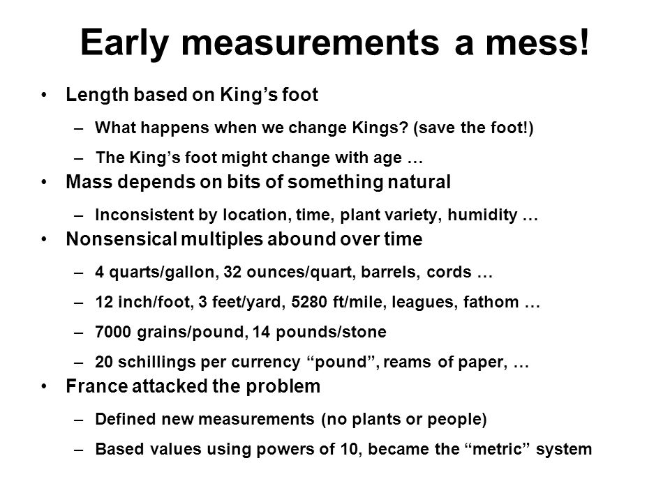40 Early Measurements ...