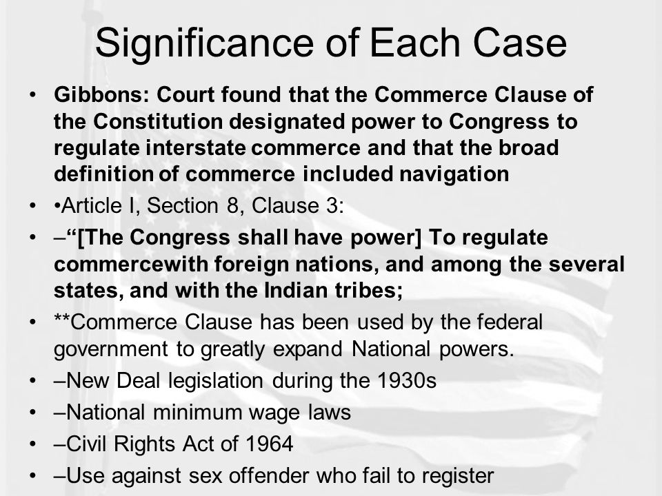 stretching the commerce clause essay Terms you should know and understand for commerce clause analysis regulate commerce among the states (distinction between intrastate, interstate) channels of commerce.