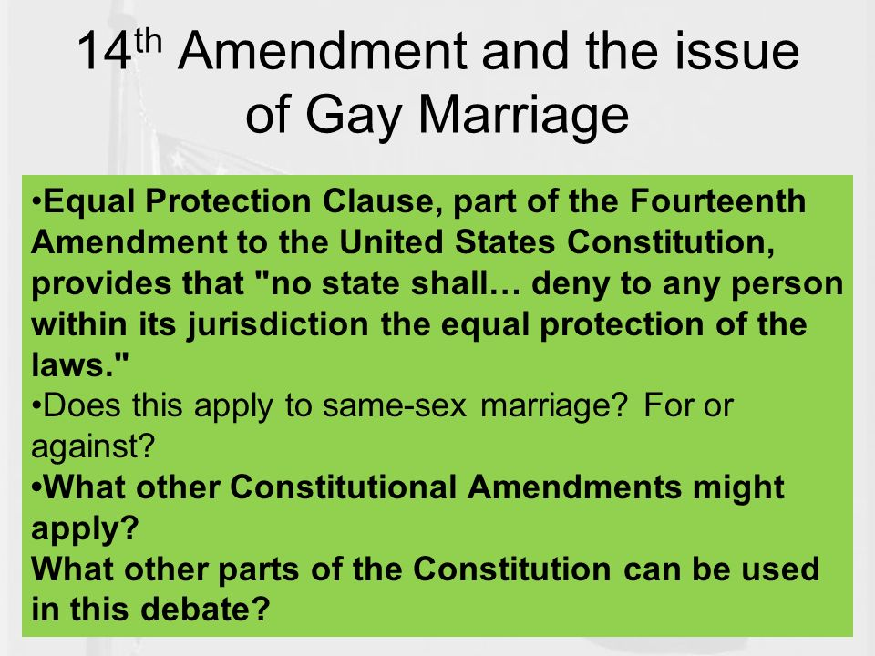 gay marrage and its constitutionality essay