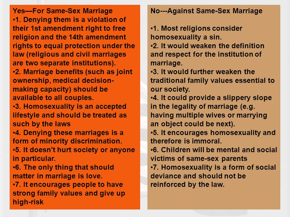same sex marriage 14 essay Persuasive essay on same sex marriage there has been a lot of conflict concerning the topic of same sex marriage.