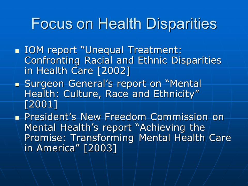 Focus on Health Disparities
