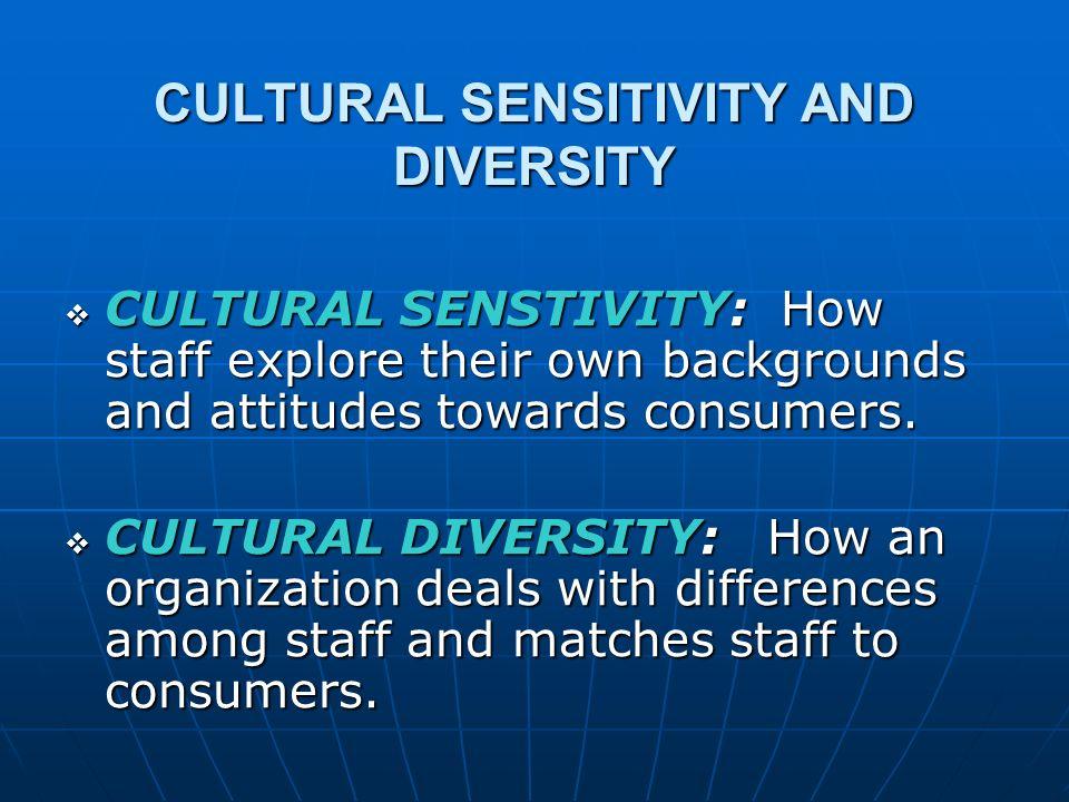CULTURAL SENSITIVITY AND DIVERSITY
