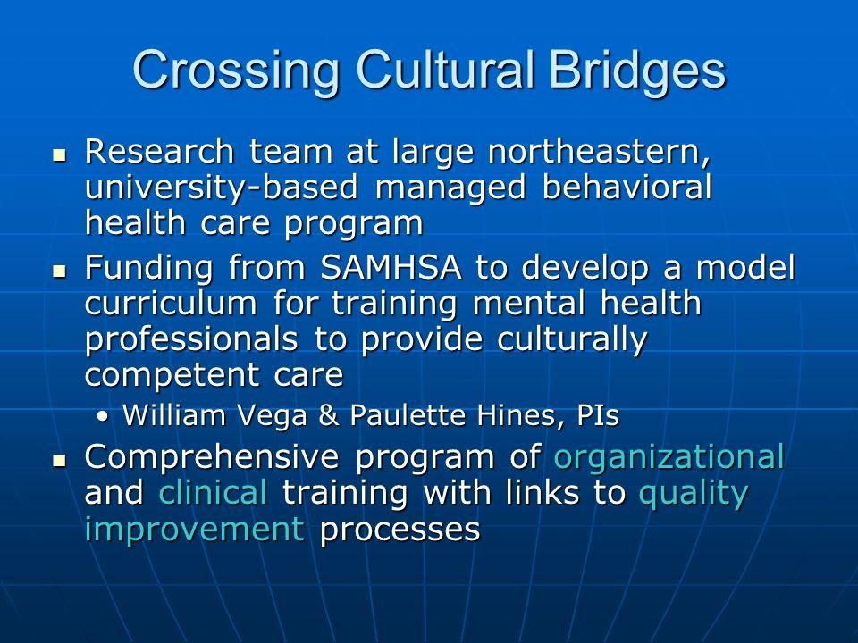 Crossing Cultural Bridges