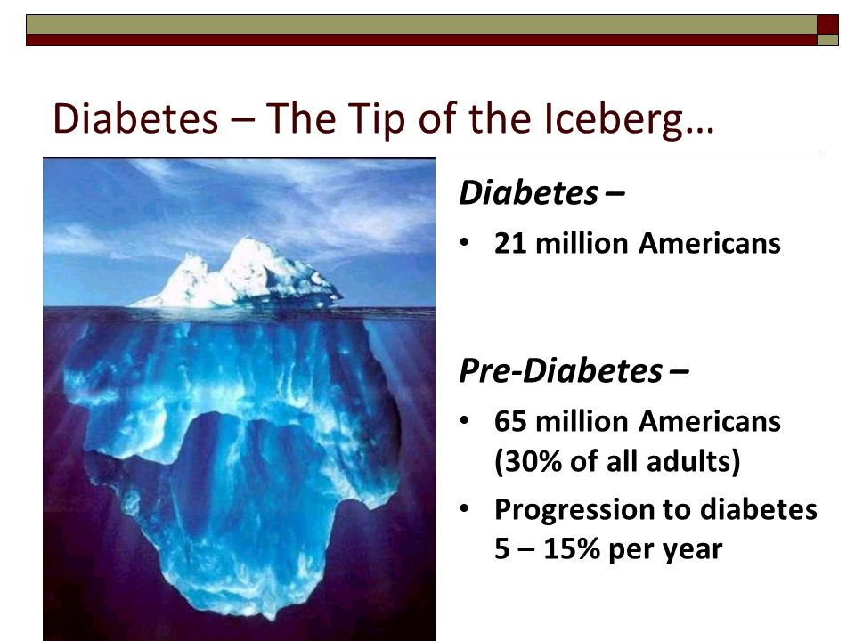 Diabetes – The Tip of the Iceberg…