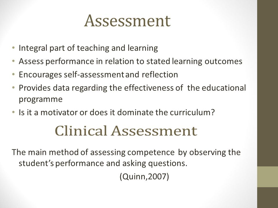 assessment in schools is integral part of learning The role of classroom assessment in teaching and learning  role to assessment as part of the learning process  plays an integral role in teaching and learning .
