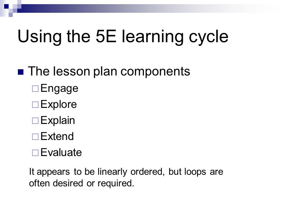E Learning Cycle With Sample Lesson Ppt Video Online Download - Learning cycle lesson plan template